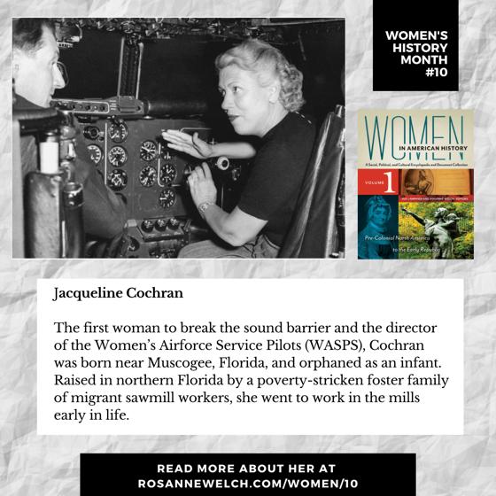 Women's History Month 10: Jacqueline Cochran
