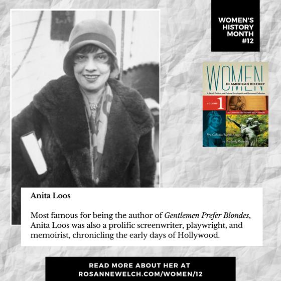Women's History Month 12: Anita Loos