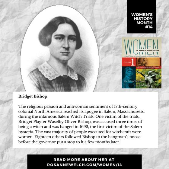 Women's History Month 14: Bridget Bishop