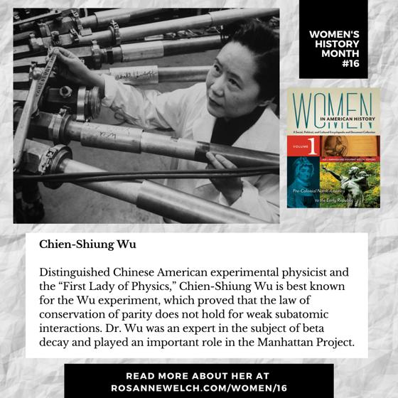 Women's History Month 16: Chien-Shiung Wu