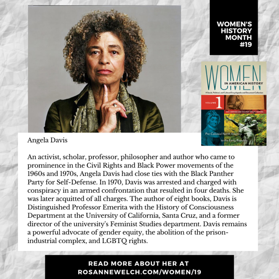 Women's History Month 19: Angela Davis