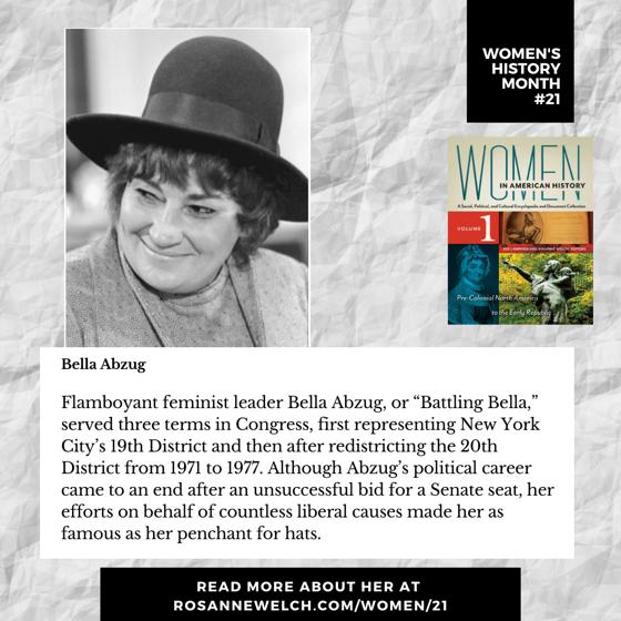 Women's History Month 21: Bella Abzug