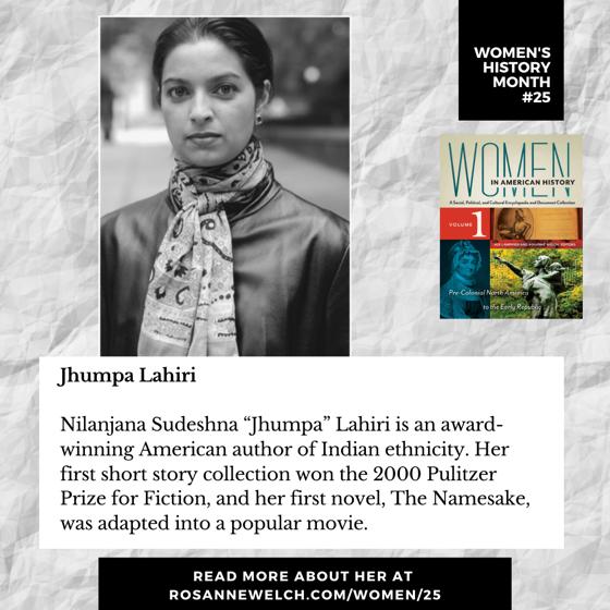 Women's History Month 25: Jhumpa Lahiri