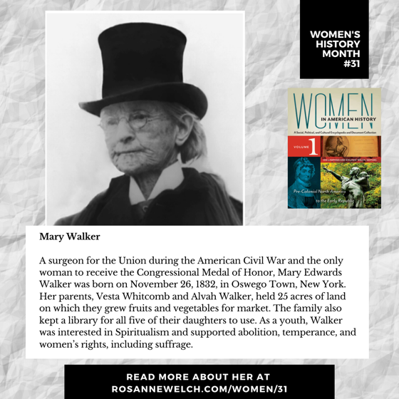 Women's History Month 31: Mary Walker