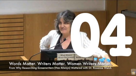 04 Writers Matter. Women Writers Matter from Why Researching Screenwriters (has Always) Mattered