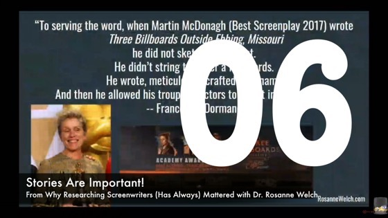 06 Stories Are Important! from Why Researching Screenwriters (has Always) Mattered