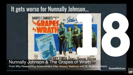 17 Nunnally Johnson and The Grapes Of Wrath from Why Researching Screenwriters (has Always) Mattered