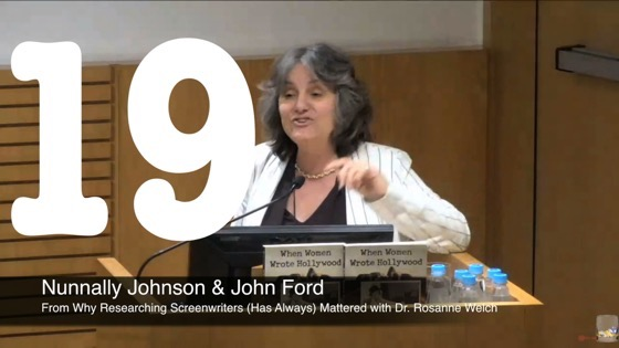 19 Nunnally Johnson and John Ford from Why Researching Screenwriters (has Always) Mattered [Video] (51 seconds)