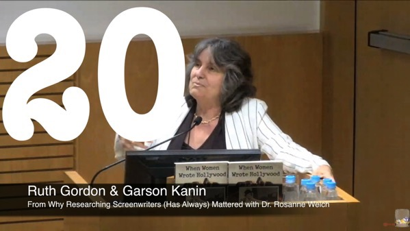 20 Ruth Gordon & Garson Kanin from Why Researching Screenwriters (has Always) Mattered [Video ] (53 seconds)