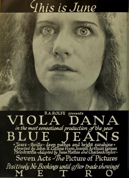 When Women Wrote Hollywood: The Movies - 8 in a series - Blue Jeans (1917) Wr: June Mathis