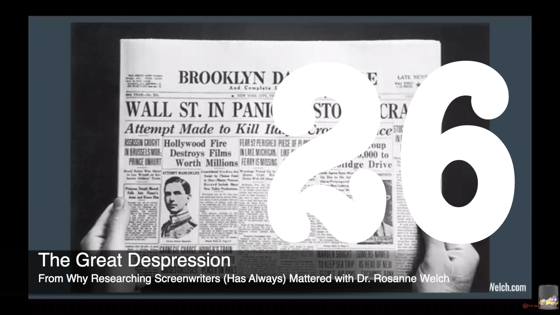 26 The Great Depression from Why Researching Screenwriters (has Always) Mattered