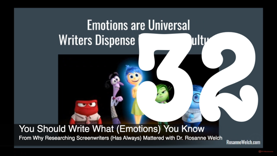 32 You Should Write What (Emotions) You Know from Why Researching Screenwriters Has Always Mattered