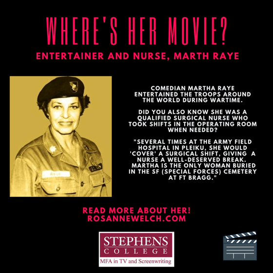 Where's Her Movie? Entertainer and Nurse, Martha Raye