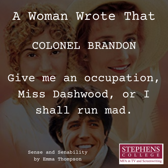 A Woman Wrote That - 5 in a series - Sense and Sensibility by Emma Thompson (1995)