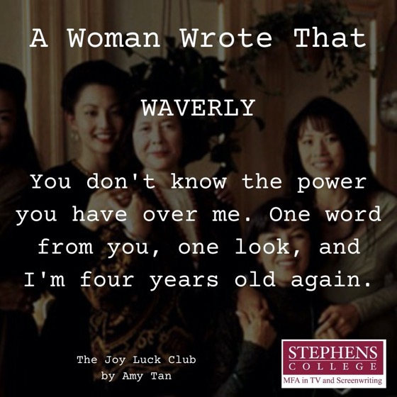 A Woman Wrote That - 6 in a series - The Joy Luck Club by AmyTan