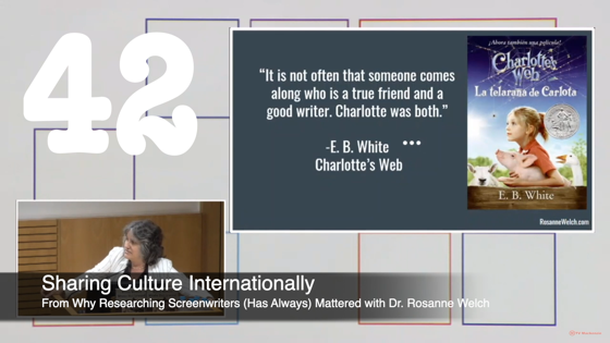 42 Sharing Culture Internationally from Why Researching Screenwriters Has Always Mattered [Video] (50 seconds)