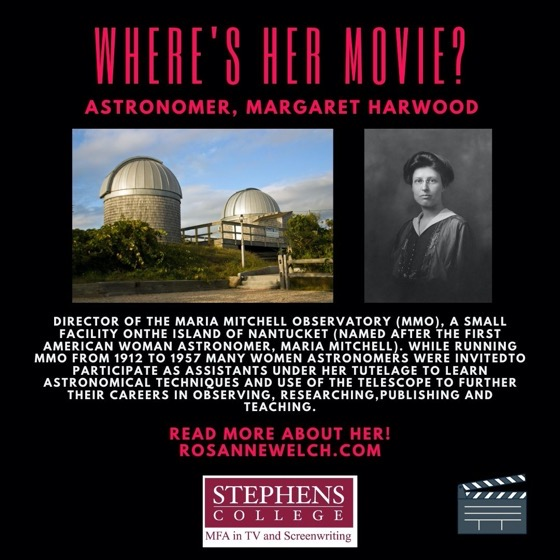 Where's Her Movie? Astronomer, Margaret Harwood - 4 in a series