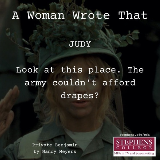 A Woman Wrote That - 12 in a series - Private Benjamin (1980) by Nancy Meyers
