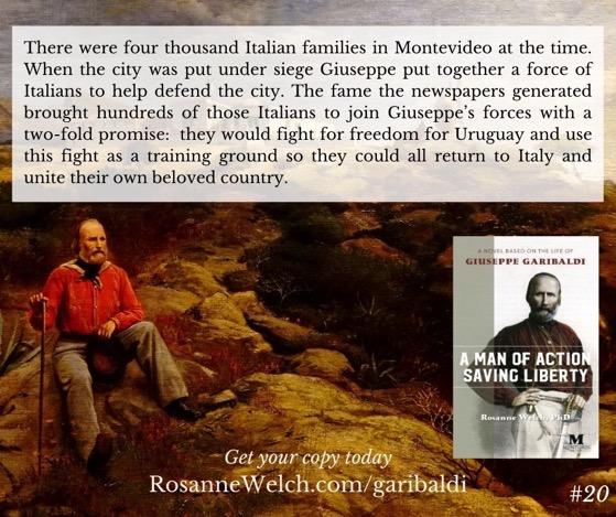 """A Man Of Action Saving Liberty: A Novel Based On The Life Of Giuseppe Garibaldi"" – 20 in a series"