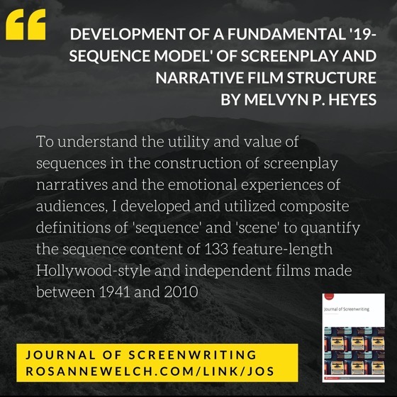 From The Journal Of Screenwriting V3 Issue 2: Development of a fundamental '19-Sequence Model' of screenplay and narrative film structure by Melvyn P. Heyes