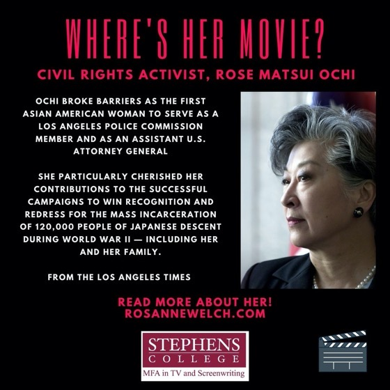 Where's Her Movie? Civil Rights Activist, Rose Matsui Ochi - 5 in a series