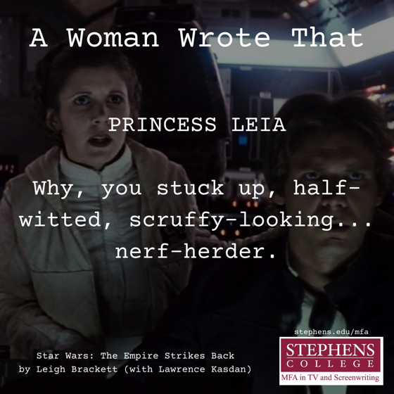 A Woman Wrote That - 13 in a series - Star Wars: The Empire Strikes Back (1980)