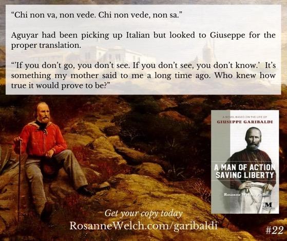 """A Man Of Action Saving Liberty: A Novel Based On The Life Of Giuseppe Garibaldi"" – 22 in a series"