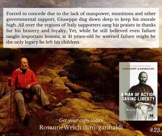 """A Man Of Action Saving Liberty: A Novel Based On The Life Of Giuseppe Garibaldi"" – 23 in a series"