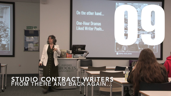 09 Studio Contract Writers from There And Back Again: Writing and Developing for American TV [Video] (46 seconds)