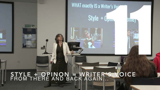 11 Style + Opinion=Writer's Voice from There And Back Again: Writing and Developing for American TV