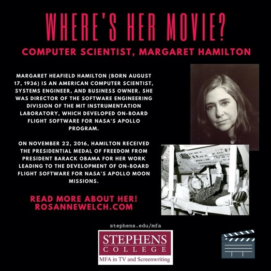 Where's Her Movie? Computer Scientist, Margaret Hamilton - 9 in a series