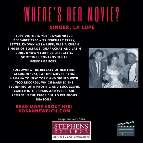Where's Her Movie? Singer, La Lupe - 10 in a series