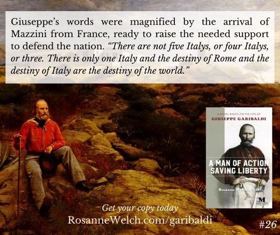 """A Man Of Action Saving Liberty: A Novel Based On The Life Of Giuseppe Garibaldi"" – 26 in a series"