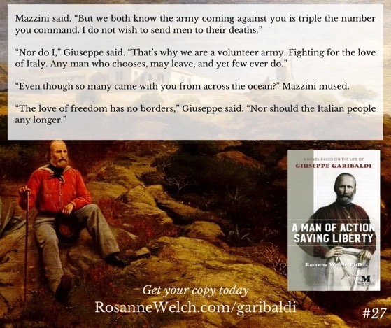 """A Man Of Action Saving Liberty: A Novel Based On The Life Of Giuseppe Garibaldi"" – 27 in a series"
