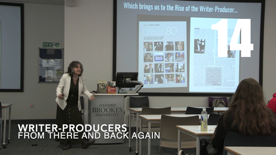 14 Writers-Producers from There And Back Again: Writing and Developing for American TV [Video] (56 seconds)