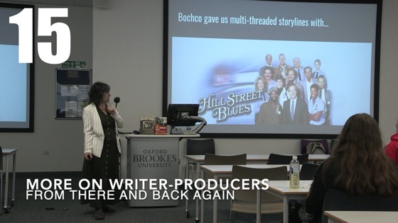 15 More On Writers-Producers from There And Back Again: Writing and Developing for American TV [Video] (51 seconds)