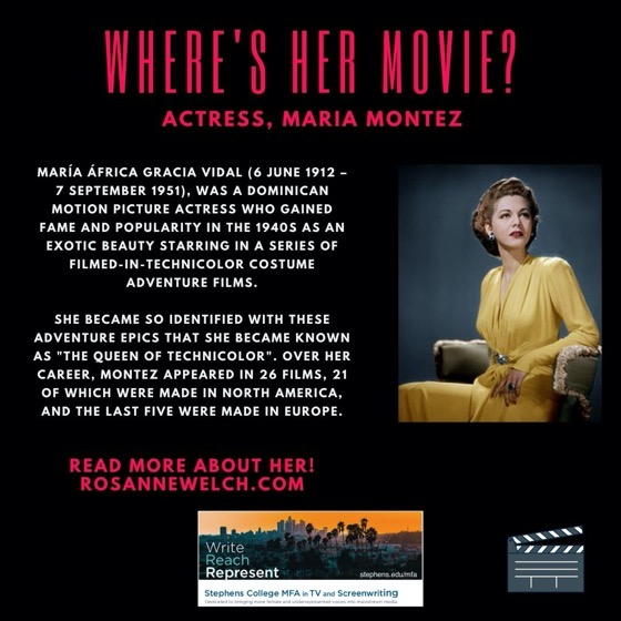 Where's Her Movie? Actress, Maria Montez - 12 in a series