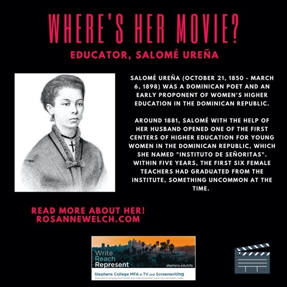 Where's Her Movie? Educator, Salomé Ureña - 13 in a series