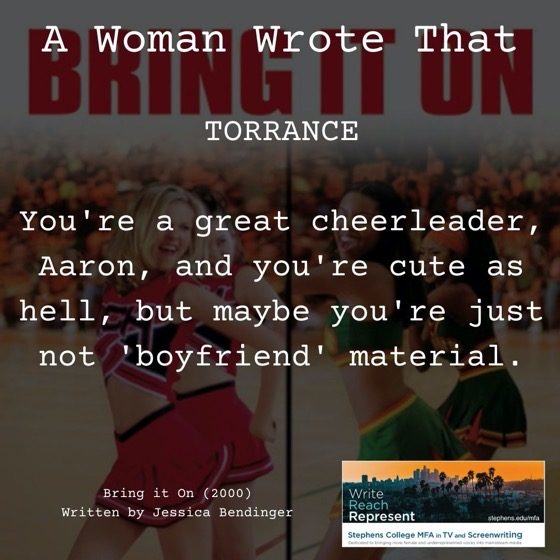 A Woman Wrote That – 22 in a series – Bring It On! (2000), Writer, Jessica Bendinger