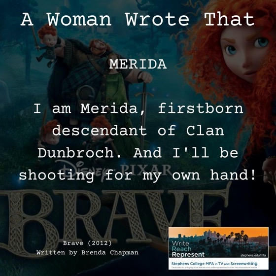 A Woman Wrote That – 23 in a series – Brave (2012), Writer, Brenda Chapman