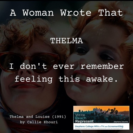 A Woman Wrote That - 25 in a series - Thelma and Louise (1991), Writer, Callie Khouri