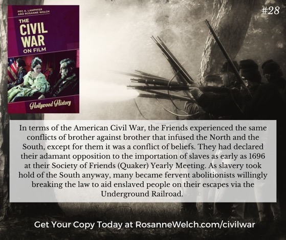 """The Civil War On Film – 28 in a series – """"…except for them it was a conflict of beliefs."""""""