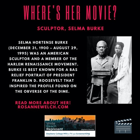 Where's Her Movie? Sculptor, Selma Burke - 14 in a series