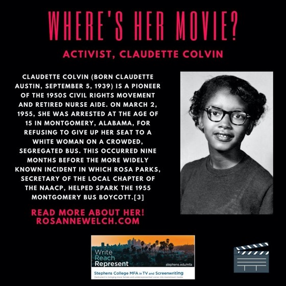 Where's Her Movie? Activist, Claudette Colvin  - 16 in a series