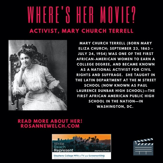 Where's Her Movie? Activist, Mary Church Terrell  - 19 in a series