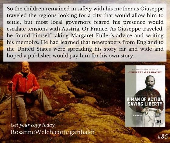 """A Man Of Action Saving Liberty: A Novel Based On The Life Of Giuseppe Garibaldi"" – 35 in a series"