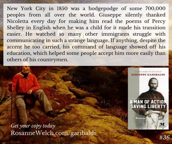 """A Man Of Action Saving Liberty: A Novel Based On The Life Of Giuseppe Garibaldi"" – 36 in a series"