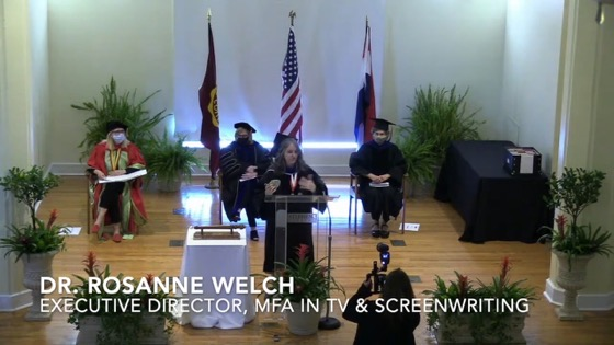 Dr. Rosanne Welch Speaks at the 2021 Stephens College MFA in TV & Screenwriting Commencement [Video]