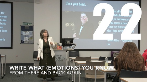 29 Write What (Emotions) You Know from There And Back Again: Writing and Developing for American TV [Video]