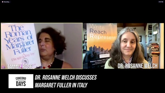 Concord Days: Dr Rosanne Welch discusses Margaret Fuller in Italy [Video] (53 mins)